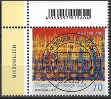 2018  Deutschland Germany Mi. 3427 FD-used Weiden EOL  Mikrowelten: Flüssigkristallanzeige (LCD) (40-fache Vergrößerung) - Used Stamps