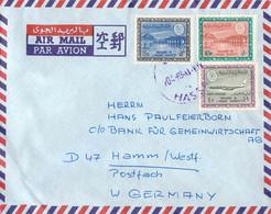 Saudi Arabia Airmail To German Bank Posted 1963 (G135-13) - Arabie Saoudite