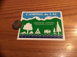 Autocollant, Sticker «CAMPING Du LAC - RIEUPEYROUX (12)» - Aufkleber
