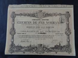 FRANCE - PARIS 1870 - CIE DES CHEMINS DE FER NORMANDS - OBLIGATION DE 500 FRS - PEU COURANT - Unclassified