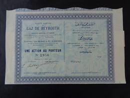 LIBAN - BEYROUTH 1908 - SA DU GAZ DE NEYROUTH - ACTION DE 500 FRS - Unclassified
