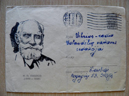 Postal Stationery Cover Ussr Sent From Lithuania Siauliai Pavlov Russian Physiologist Doctor Nobel Laureate Prize - 1960-69
