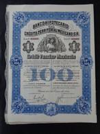 MEXIQUE - LOT DE 6 TITRES IDENTIQUES - BANCO HIPOTECARIO - TITRE DE 100 PESOS - MEXICO 1914 - CREDIT FONCIER MEXICAIN - Unclassified