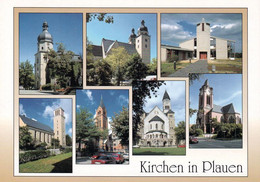 1 AK Germany * Plauen - Lutherkirche, Johanniskirche, Versöhnungskirche, Ev. Method. Kirche, Kath. Kirche, Markuskirche - Plauen