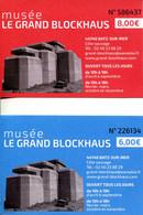 Musée Le Grand Blockhaus De Batz Sur Mer (Loire Atlantique - France) - Ticket Adulte + Ticket Enfant - Tickets - Vouchers