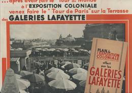 Plan De L'Exposition Coloniale Internationale Paris 1931 Colonies Françaises Empire Colonial Offert Galeries Lafayette - Other Plans