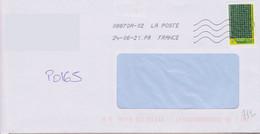 Toshiba 08870A-02 La Poste à La Place De France En Seconde Ligne Après La Date  La Mention PR - Mechanical Postmarks (Other)