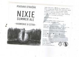 Czech Republic  - Minibrewery Strasak Imn Small City Nove Straseci, Beer Summer Ale NIXIE, Self Adhesive - Birra