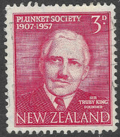 New Zealand. 1957 50th Anniversary Of Plunket Society. 3d Used. SG 760 - Used Stamps