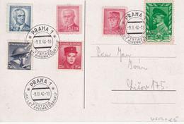 TCHECOSLOVAQUIE 1946 CARTE DE PRAHA - Covers & Documents