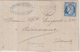 """FRANCE : GC 6220 . """" VOUGEAUCOURT """" . ( 24) . N° 60 .1874 . - 1849-1876: Période Classique"""