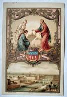 Chromo  Image Pieuse Moines Trappistes De N.D. D'Aiguebelle - Imprimé Par Boulet - BE - Devotion Images