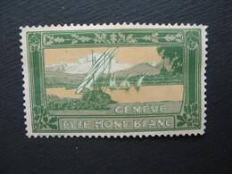 Vignette - Label Stamp - Vignetta Filatelico Aufkleber Suisse Genève Et Le Mont-Blanc - Non Classificati