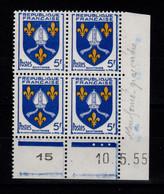 Coin Daté - YV 1005 N** Luxe , Coin Daté Du 10.5.55 , 3 Points - 1950-1959