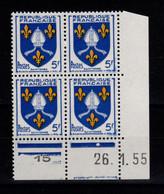 Coin Daté - YV 1005 N** Luxe , Coin Daté Du 26.1.55 , 1 Point - 1950-1959