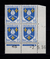 Coin Daté - YV 1005 N** Luxe , Coin Daté Du 2.5.56 , 1 Point - 1950-1959