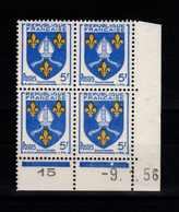 Coin Daté - YV 1005 N** Luxe , Coin Daté Du 9.1.56 , 1 Point - 1950-1959