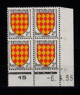 Coin Daté - YV 1003 N** Luxe , Coin Daté Du 6.4.55 , 3 Points - 1950-1959