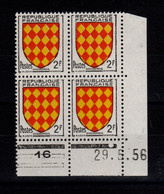 Coin Daté - YV 1003 N** Luxe , Coin Daté Du 29.5.56 , 1 Point - 1950-1959