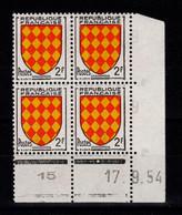 Coin Daté - YV 1003 N** Luxe , Coin Daté Du 19.9.54 , 1 Point - 1950-1959