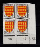 Coin Daté - YV 1003 N** Luxe , Coin Daté Du 7.8.55 , 1 Point - 1950-1959