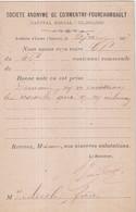 "FRANCE : CP PRECURSEUR . REPIQUAGE . "" COMMENTRY - FOURCHAMBAULT "" . 1877 . - 1801-1848: Vorläufer XIX"