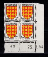 Coin Daté - YV 1003 N** Luxe , Coin Daté Du 25.9.54 , 3 Points - 1950-1959