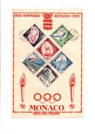 MONACO DOCUMENT FDC JEUX OLYMPIQUES 1952 HELSINKI - FDC