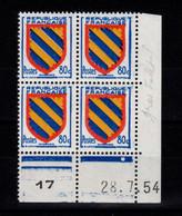 Coin Daté - YV 1001 N** Luxe , Coin Daté Du 28.7.54 , 1 Point - 1950-1959