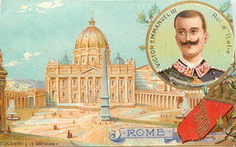CHROMO CHICOREE PAUL MAIRESSE A CAMBRAI ROME AVEC VICTOR EMMANUEL III ROI D'ITALIE - Tè & Caffè