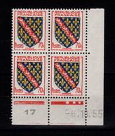 Coin Daté - YV 1045 N** Luxe , Coin Daté Du 6.10.55 , 3 Points - 1950-1959