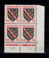 Coin Daté - YV 1045 N** Luxe , Coin Daté Du 10.10.55 , 3 Points - 1950-1959
