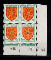 Coin Daté - YV 1000 N** Luxe , Coin Daté Du 20.7.54 , 3 Points - 1950-1959