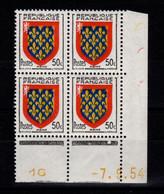 Coin Daté - YV 999 N** Luxe , Coin Daté Du 7.9.54 , 1 Point - 1950-1959