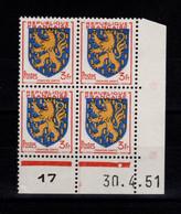 Coin Daté - YV 903 N** Luxe , Coin Daté Du 30.4.51 , 1 Point - 1950-1959