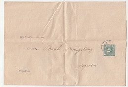 Austria Postal Stationery Newspaper Wrapper Posted 1909 B210725 - Ganzsachen