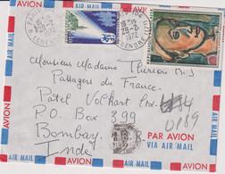 """MARCOPHILIE-2 L.DE PARIS POUR LE PAQUEBOT """"FRANCE""""de Passage En ANGOLA ET BOMBAY  1972 - 1961-...."""