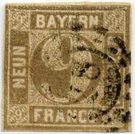 BAYERN 1862/63, Nr. 11, 9 Kr. GESTEMPELT NR-STPL 28 VON AUGSBURG, MI: 20,- - Bavaria