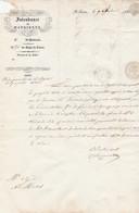 1854 St JEAN-de-MAURIENNE - L'INTENDANT Au Syndic De St Michel - Visa Pour Timbre Du Registre Des Propriétés Baties - Collections