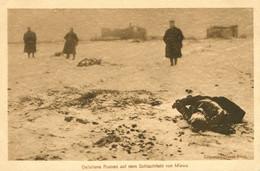 AK Um 1915 1. WK Gefallene Russen Auf Dem Schlachtfeld Von Mlawa - Oorlog 1914-18