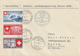 Suisse Lettre Aviation 1939 - Postmark Collection