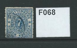 Wurtemburg 1869 7kr - Wurtemberg