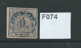 Wurtemburg 1851 9k - Wurtemberg
