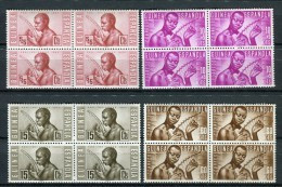 Guinea Española 1953. Edifil 321-24 X 4 ** MNH. - Guinea Española