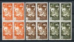 Guinea Española 1951. Edifil 306-08x4 ** MNH. - Guinea Española