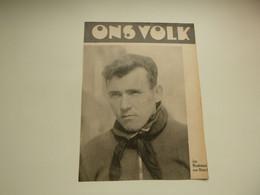 """Origineel Knipsel ( 4526 ) Uit Tijdschrift """" Ons Volk """" 1937 : Coureur Renner  Jan Meuleman Van Herselt - Unclassified"""
