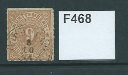 Wurttemberg 1869 Rouletted 9kr - Wurtemberg