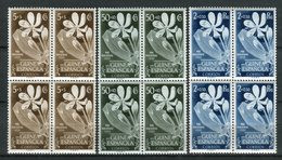 Guinea Española 1952. Edifil 314-16 X 4 ** MNH. - Guinea Española