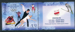 POLAND 2002 Winter Olympic Games With Label MNH / **. .  Michel 3952 Zf - Unused Stamps