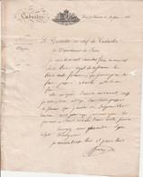 1831 CADASTRE - LONS-le-SAUNIER - Le Géomètre En Chef Du Départ.du JURA à La Commune De LOUHANS - Collections